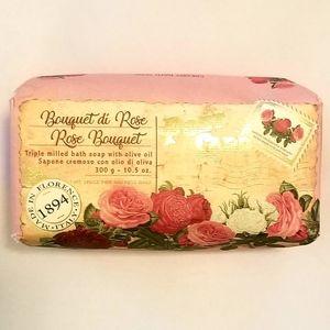 Sapone Fine Rose Soap w/ Olive Oil 10.5 oz. NEW